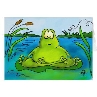 Meditierende Froschkunst-Druckkarte Karte