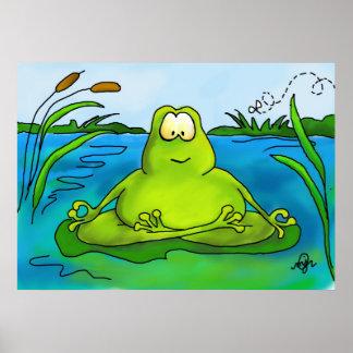 Meditierender Froschkunstdruck oder -plakat Poster
