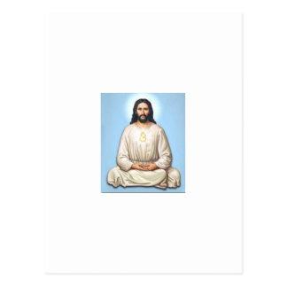 Meditierender Jesus mit OM Postkarte