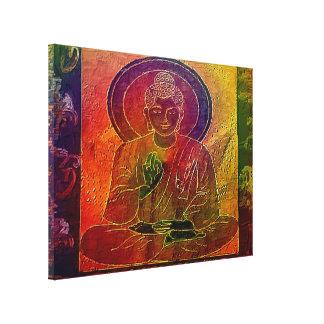 Meditierendes Buddha5 dehnte Leinwand-Druck aus Leinwanddrucke
