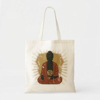 Meditierendes OM Symbol Buddhas Budget Stoffbeutel