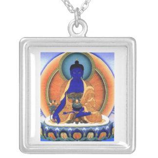 Medizin Buddha Versilberte Kette