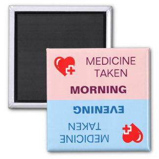 Medizin genommene Erinnerung Quadratischer Magnet