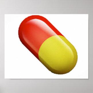 Medizin-Pille - Emoji Poster