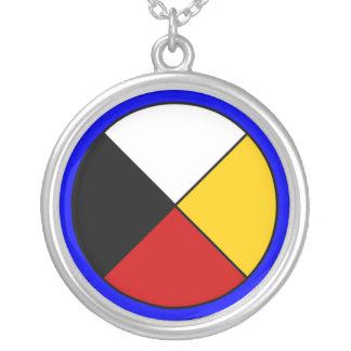 Medizin-Rad-Halskette Halskette Mit Rundem Anhänger