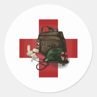 Mediziner-Kreuz Runder Aufkleber