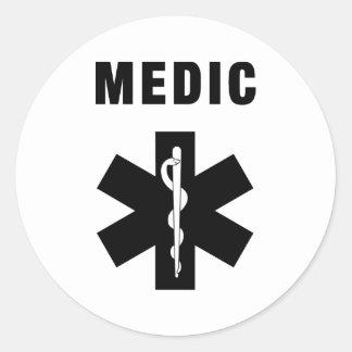 Mediziner-Stern des Lebens Runder Aufkleber