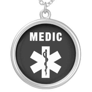 Mediziner-Stern des Lebens Versilberte Kette
