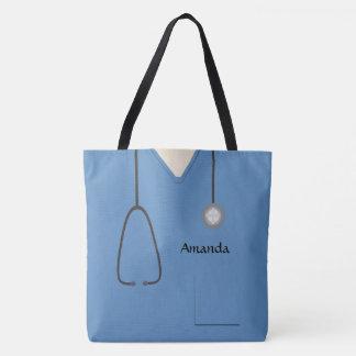 Medizinisch scheuert Krankenschwester blaues AOPM