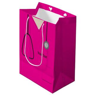 Medizinisch scheuert Pink-MED-Geschenk-Tasche Mittlere Geschenktüte