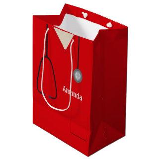 Medizinisch scheuert rotes MGB Mittlere Geschenktüte