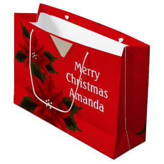 Medizinisch scheuert Weihnachtsrote Große Geschenktüte