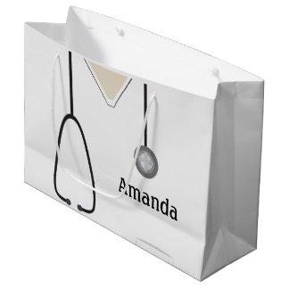 Medizinisch scheuert weiße große geschenktüte