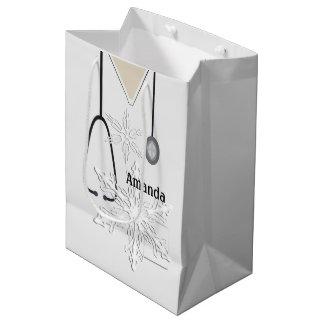 Medizinisch scheuert weiße Schneeflocke MGB Mittlere Geschenktüte