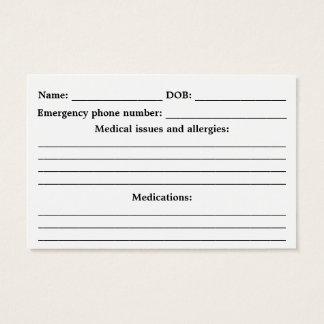 Medizinische Alarm Identifikation - kundengerecht Visitenkarte