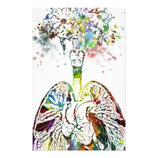 Medizinische Geschenke Herz und Lunge-Motiv Briefpapier