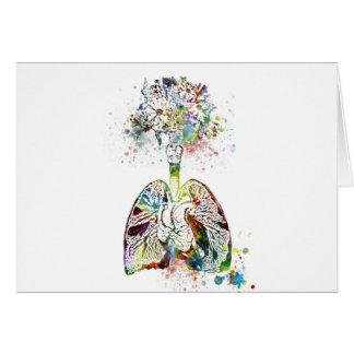 Medizinische Geschenke Herz und Lunge-Motiv Karte