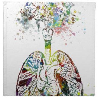 Medizinische Geschenke Herz und Lunge-Motiv Stoffserviette