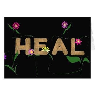medizinische Pflaster mit Blumen Karte