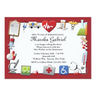 Medizinische Ruhestands-Party Einladung