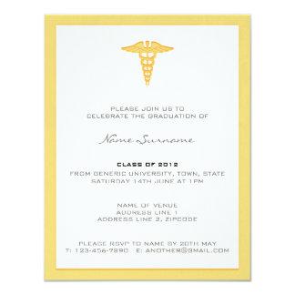 Medizinische SchulAbschluss-Einladung - 10,8 X 14 Cm Einladungskarte