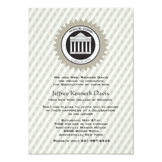 Medizinische SchulAbschluss-Einladung 12,7 X 17,8 Cm Einladungskarte
