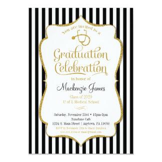 Medizinische SchulAbschluss-Party 12,7 X 17,8 Cm Einladungskarte
