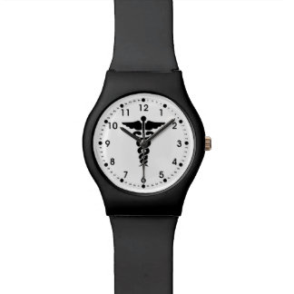 Medizinische Symbol-Krankenschwestern und Doktoren Uhr