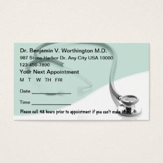 Medizinische Verabredungs-Karten Visitenkarte