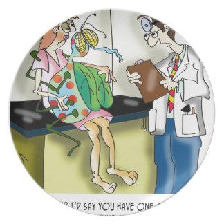Medizinischer Cartoon 9517 Melaminteller