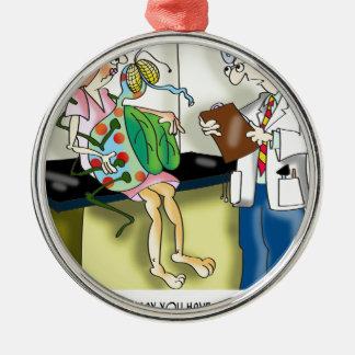 Medizinischer Cartoon 9517 Silbernes Ornament