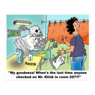 Medizinischer Cartoon-Spaß Postkarte