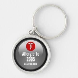 Medizinischer Eialarm | personalisiert Schlüsselanhänger