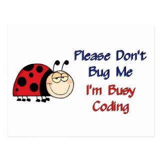 Medizinischer Kodierer Ladybug-2 Postkarte