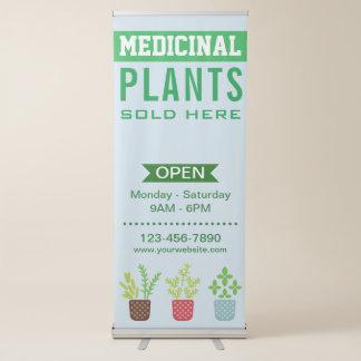 Medizinischer Pflanzen-Speicher Ausziehbarer Banner