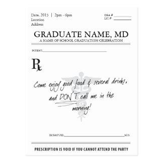 Medizinischer Postkarte