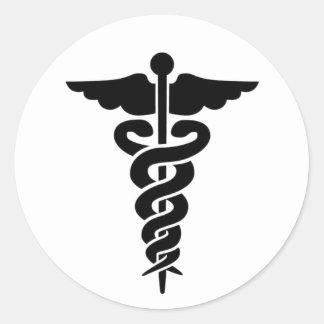 Medizinischer SymbolCaduceus Runde Sticker