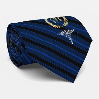 Medizinisches berufliches mit Monogramm Blau Individuelle Krawatte
