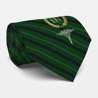 Medizinisches berufliches mit Monogramm Grün Krawatte