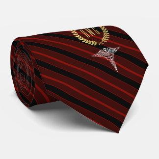Medizinisches berufliches mit Monogramm Rot Individuelle Krawatten