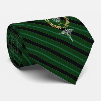 Medizinisches Gehirn-personalisiertes Grün Krawatte