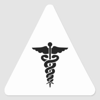 Medizinisches Symbol Dreieckige Aufkleber
