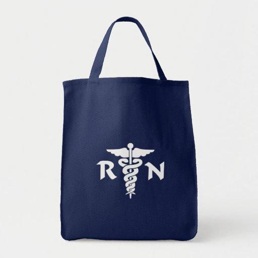Medizinisches Symbol RN Leinentasche
