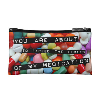 Meds ~ Fotodruck der Drogen/Medikation/Pillen Kosmetiktasche