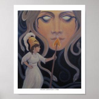 Medusa und Athene - eine symbolische Ansicht Poster