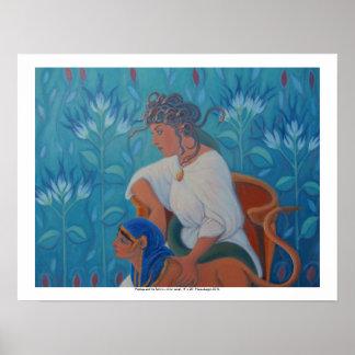 """Medusa und die Sphinx, Plakatdruck, 20"""" x 16"""" Poster"""