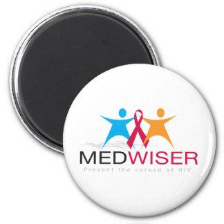 Medwiser Schwarzes Runder Magnet 5,7 Cm