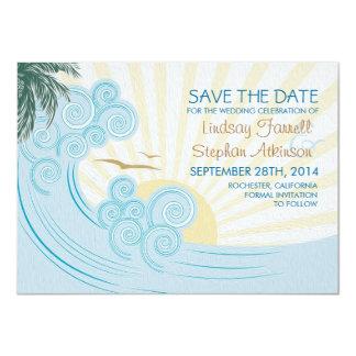 Meer bewegt Karten der Strandhochzeit Save the 11,4 X 15,9 Cm Einladungskarte