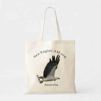 Meer-Eagle w/Fish Taschen-Tasche Budget Stoffbeutel