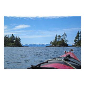 Meer-Kajak u. Alaska-Gebirgszug Fotodruck
